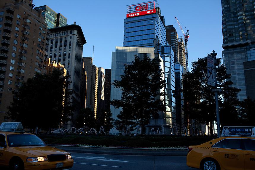 Time Warner building in Columbus Circle, New York on June 23, 2012.