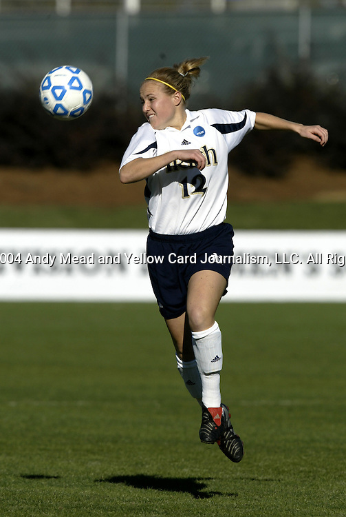 05 December 2004: Ashley Jones. Notre Dame defeated UCLA 4-3 on penalty kicks after the game ended in a 1-1 overtime tie at SAS Stadium in Cary, NC in the championship match in the 2004 NCAA Division I Women's College Cup..
