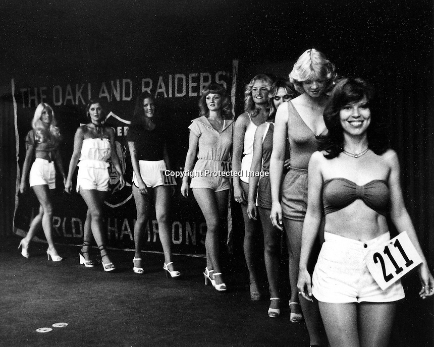 Try outs for the 1979 Oakland Raiderettes...<br />
