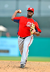 3 March 2011: Washington Nationals' pitcher Shairon Martis on the mound during a Spring Training game against the St. Louis Cardinals at Roger Dean Stadium in Jupiter, Florida. The Cardinals defeated the Nationals 7-5 in Grapefruit League action. Mandatory Credit: Ed Wolfstein Photo