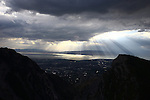 1309-22 2665<br /> <br /> 1309-22 BYU Campus Aerials<br /> <br /> Brigham Young University Campus, Provo, <br /> <br /> Provo Canyon, Sunset, Storm Clouds, Provo Valley<br /> <br /> September 6, 2013<br /> <br /> Photo by Jaren Wilkey/BYU<br /> <br /> &copy; BYU PHOTO 2013<br /> All Rights Reserved<br /> photo@byu.edu  (801)422-7322