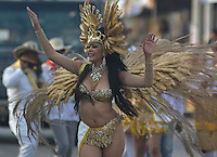 BARRANQUILLA-COLOMBIA- 27-02-2017: Gran Parada Desfile Fantasía carnaval 2017. Carnaval de Barranquilla 2017 invita a todos los colombianos a contagiarse del Jolgorio general de una de las festividades más importantes del país y que se lleva a cabo del 9 hasta el 28 de febrero de 2016. / Gran Parada Fantasy parade of the Carnaval 2017. Carnaval de Barranquilla 2017 invites all Colombians to catch the general reverly that make it one of the most important festivals of the country and take place until February 28, 2017.  Photo: VizzorImage / Alfonso Cervantes / Cont