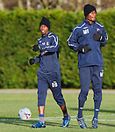 USA players DaMarcus Beasley and Maurice Edu.