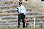 02 November 2008: UNC head coach Anson Dorrance. The University of North Carolina Tar Heels defeated the University of Miami Hurricanes 1-0 at Fetzer Field in Chapel Hill, North Carolina in an NCAA Division I Women's college soccer game.