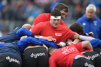 Francois Louw of Bath Rugby in action during the pre-match warm-up. Aviva Premiership match, between Bath Rugby and Gloucester Rugby on April 30, 2017 at the Recreation Ground in Bath, England. Photo by: Patrick Khachfe / Onside Images