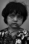Jant Bibi, 3 - child of Afghan Mangal refugees, born in Pakistan, living now in Afghanistan's eastern Khost Province on Sunday Oct. 5, 2008.