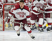 Victor Newell (Harvard - 28) - The visiting Brown University Bears defeated the Harvard University Crimson 2-0 on Saturday, February 22, 2014 at the Bright-Landry Hockey Center in Cambridge, Massachusetts.