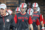 09 May 2015: Ohio State's Jesse King (CAN) (19). The Duke University Blue Devils hosted the Ohio State University Buckeyes at Koskinen Stadium in Durham, North Carolina in a 2015 NCAA Division I Men's Lacrosse Tournament First Round match. Ohio State won the game 16-11.