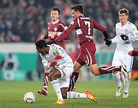FUSSBALL   DFB POKAL   SAISON 2011/2012   VIERTELFINALE VfB Stuttgart - FC Bayern Muenchen                      08.02.2012 David Alaba (li, FC Bayern Muenchen) gegen Martin Harnik (VfB Stuttgart)