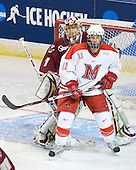 John Muse (BC - 1), Carter Camper (Miami - 11) - The Boston College Eagles defeated the Miami University RedHawks 4-3 in overtime on Sunday, March 30, 2008 in the NCAA Northeast Regional Final at the DCU Center in Worcester, Massachusetts.