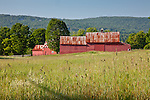 Red barn near Quechee village, Hartland, VT, USA