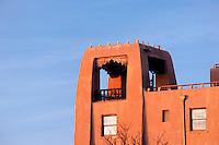 Facade of the La Fonda Hotel, Santa Fe, New Mexico