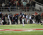 Ole Miss running back Jeff Scott (3) vs. Texas A&amp;M defensive back Deshazor Everett (29) in Oxford, Miss. on Saturday, October 6, 2012. Texas A&amp;M won 30-27...