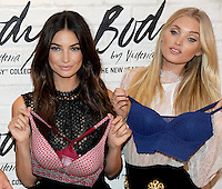 NEW YORK, NY - JULY 26: (L-R) Victoria's Secret Angels Lily Aldridge and  Elsa Hosk launches the all-new 'Easy' Collection from Body By Victoria at Victoria's Secret SoHo on July 26, 2016 in New York City. Photo Credit:John Palmer/ MediaPunch