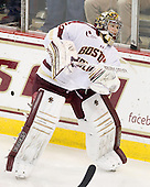 Parker Milner (BC - 35) - The Boston College Eagles defeated the visiting University of Massachusetts Lowell River Hawks 6-3 on Sunday, October 28, 2012, at Kelley Rink in Conte Forum in Chestnut Hill, Massachusetts.