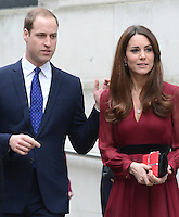 Prince William and Catherine, Duchess of Cambridge visit the National Portrait Gallery in London