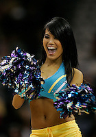 Mar 03, 2010; New Orleans, LA, USA; A New Orleans Hornets Honeybees dancer performs during the second half of a game against the Memphis Grizzlies at the New Orleans Arena. The Grizzlies defeated the Hornets 104-100. Mandatory Credit: Derick E. Hingle-US PRESSWIRE