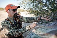 """Image made for Outdoor Life Magazine's """"Record Quest"""" featuring hunting editor Andrew McKean, hunting whitetail deer on the Vatoville Ranch near Sonora, Texas, Dec. 7-9. 2010. (Darren Abate/pressphotointl.com)"""
