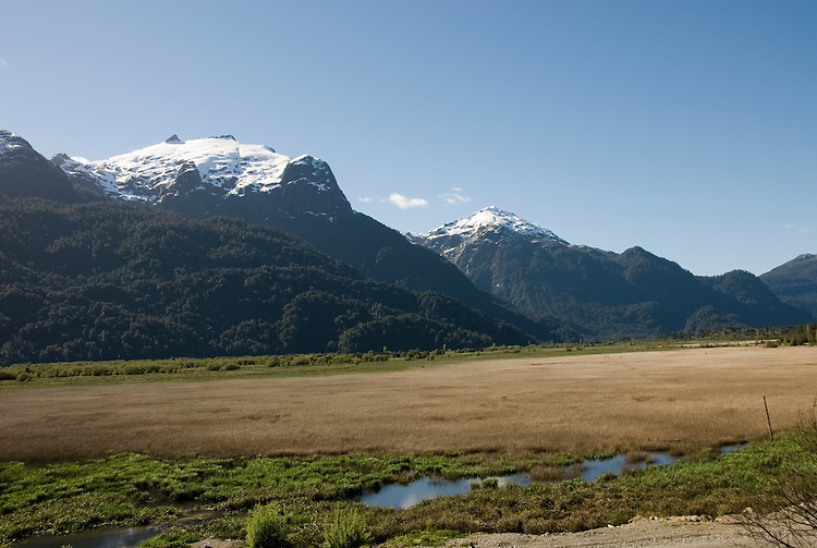 Chile, Lake Country: Beautiful scenery of the Lake Country at Peulla in the Andes..Photo #: ch641-33328.Photo copyright Lee Foster www.fostertravel.com, lee@fostertravel.com, 510-549-2202.