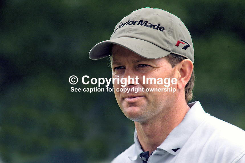 Retief Goosen, professional golfer, South Africa. Ref: 200506286832. This image was taken at the K Club, Co Kildare, Ireland, during the Smurfit European Open Golf Championship practice and Pro-Am days. ..Copyright Image from Victor Patterson, 54 Dorchester Park, Belfast, UK, BT9 6RJ..Tel: +44 28 9066 1296.Mob: +44 7802 353836.Voicemail +44 20 8816 7153.Skype: victorpattersonbelfast.Email: victorpatterson@mac.com.Email: victorpatterson@ireland.com (back-up)..IMPORTANT: If you wish to use this image or any other of my images please go to www.victorpatterson.com and click on the Terms & Conditions. Then contact me by email or phone with the reference number(s) of the image(s) concerned.