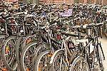 Bikes for Rent at Friedrichstrasse Train Station.  Berlin, Germany