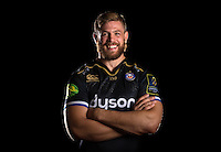 Dave Attwood poses for a portrait in the 2015/16 European kit during a Bath Rugby photocall on September 8, 2015 at Farleigh House in Bath, England. Photo by: Patrick Khachfe / Onside Images
