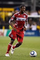 3 JULY 2010:  Dasan Robinson of Chicago Fire (32) uring MLS soccer game between Chicago Fire vs Columbus Crew at Crew Stadium in Columbus, Ohio on July 3, 2010.
