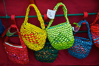 Recycled Plastic Grocery Bag Purses, Cranberry Festival Fort Langley B.C.