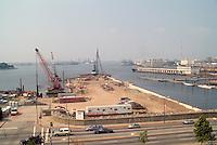 1991 September ..Redevelopment.Downtown West (A-1-6)..NAUTICUS.CONSTRUCTION PROGRESS.FROM PARKING GARAGE...NEG#.NRHA#..