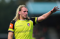 Sam Harrison of Leicester Tigers. Aviva Premiership match, between Saracens and Leicester Tigers on October 29, 2016 at Allianz Park in London, England. Photo by: Patrick Khachfe / JMP