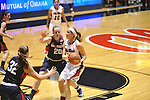 "Ole Miss' Gracie Frizzell (12) vs. Belmont's Molly Ernst (20) at the C.M. ""Tad"" Smith Coliseum in Oxford, Miss. on Sunday, December 16, 2012. Ole Miss won 63-48."
