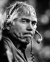 Joe Kapp coaching on the sideline for the University of California Golden Bears. (photo/Ron Riesterer)