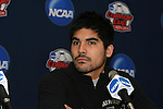 10 December 2009: Senior goalkeeper Akira Fitzgerald. The Wake Forest University Demon Deacons held a press conference at WakeMed Soccer Stadium in Cary, North Carolina on the day before playing Virginia in an NCAA Division I Men's College Cup semifinal game.