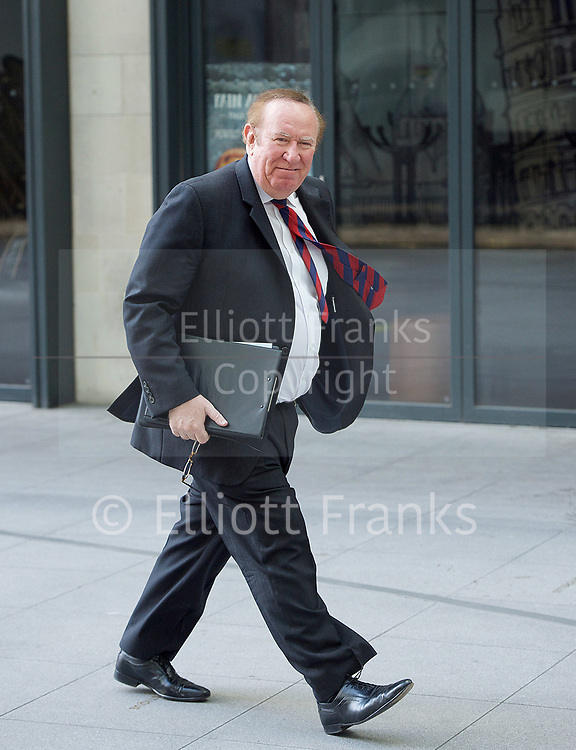 Sunday Politics <br /> BBC, Broadcasting House, London, Great Britain <br /> 26th March 2017 <br /> <br /> Andrew Neil arriving at the BBC for Sunday Politics <br /> <br /> <br /> Photograph by Elliott Franks <br /> Image licensed to Elliott Franks Photography Services