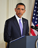 United States President Barack Obama and Middle Eastern leaders make statements in the East Room of the White House following their bi-lateral meetings  in Washington, D.C. on Wednesday, September 1, 2010.  The statements are in advance of the opening of the first direct talks in two years between Israel and the Palestinian Authority scheduled to begin at the State Department in Washington, D.C. tomorrow.  From left to right: Prime Minister Benjamin Netanyahu of Israel, President Hosni Mubarak of Egypt, President Mahmoud Abbas of the Palestinian Authority, and King Abdullah II of Jordan..Credit: Ron Sachs / Pool via CNPUnited States President Barack Obama and Middle Eastern leaders make statements in the East Room of the White House following their bi-lateral meetings  in Washington, D.C. on Wednesday, September 1, 2010.  The statements are in advance of the opening of the first direct talks in two years between Israel and the Palestinian Authority scheduled to begin at the State Department in Washington, D.C. tomorrow.  From left to right: Prime Minister Benjamin Netanyahu of Israel, President Hosni Mubarak of Egypt, President Mahmoud Abbas of the Palestinian Authority, and King Abdullah II of Jordan..Credit: Ron Sachs / Pool via CNP.(RESTRICTION: NO New York or New Jersey Newspapers or newspapers within a 75 mile radius of New York City)