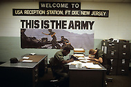 Fort Dix, NJ, USA, June 1980. US Army military training. Incorporation of new recruits.
