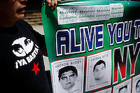 Parents and relatives of the missing 43 students of Ayotzinapa, Mexico, hold a press conference at the steps of the New York City Hall in New York.  04/22/2015. Eduardo MunozAlvarez/VIEWpress