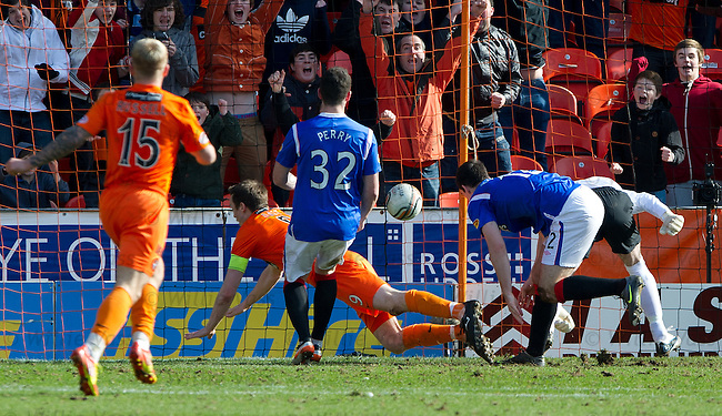 Jon Daly nips in to score for Dundee Utd