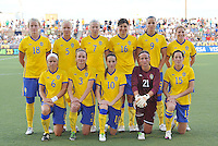 Sweden starting XI..USWNT tied Sweden 1-1 at Morison Stadium, Nebraska.