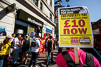 "15.04.2015 - ""We're Not Loving It! - McDonald's Low Pay is Not OK"""
