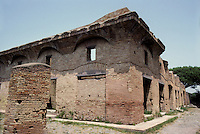 "Italy: Ostia--House of Diana, a ""superb example of an Insula with rooms an corridors planned around a central court. Photo '83."