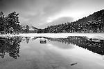 Half frozen Loch in Avimore Scotland -15