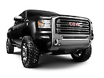 Black 2012 GMC Sierra All Terrain HD concept pick-up truck. General Motors. Isolated on white background with clipping path.