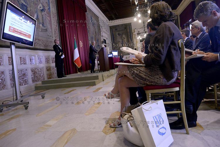 Roma, 8 Luglio 2015.<br /> Tito Boeri .<br /> Camera dei Deputati. <br /> Relazione annuale INPS.