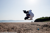 Parkour by No Limits Freerun group, Duncannon, Wexford, Ireland