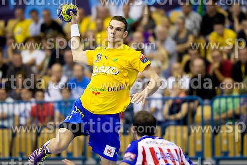 Borut Mackovsek of Celje during handball match between RK Celje Pivovarna Lasko and BM Atletico Madrid in 2nd Round of Group B of EHF Champions League 2012/13 on October 6, 2012 in Arena Zlatorog, Celje, Slovenia. Atletico Madrid defeated Celje Pivovarna Lasko 28-22. (Photo By Vid Ponikvar / Sportida)