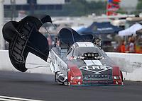 May 1, 2016; Baytown, TX, USA; NHRA funny car driver Tim Wilkerson during the Spring Nationals at Royal Purple Raceway. Mandatory Credit: Mark J. Rebilas-USA TODAY Sports