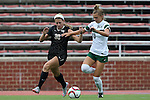 04 September 2015: Wake Forest's Sarah Medina (30) and William & Mary's Haley Kent (13). The Wake Forest University Demon Deacons played the William & Mary University Tribe at Dail Soccer Field in Raleigh, NC in a 2015 NCAA Division I Women's Soccer game. The game ended in a 1-1 tie.