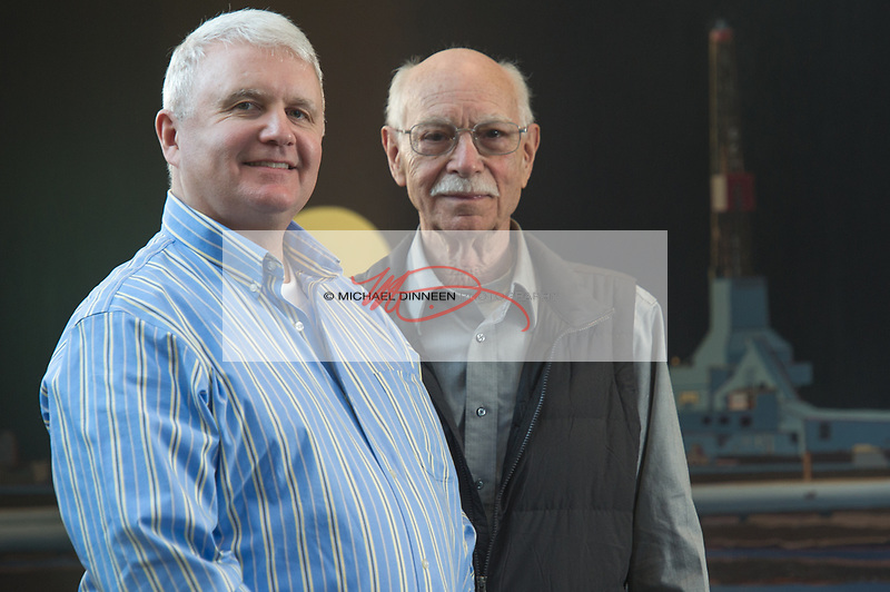 From left, current BP drill superintendent Greg Sarber and retired superintendent Ted Stagg.