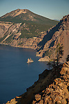 Phantom Ship from Mt. Garfield trail in Crater Lake NP